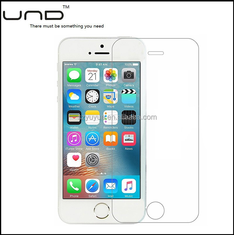 new premium 0.2 0.26 0.33mm 9H full cover tempered glass screen protector for iphone 5