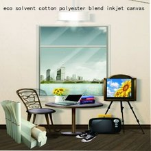 eco solvent cotton polyester blend inkjet canvas