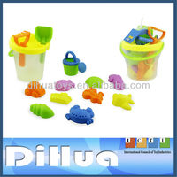 Summer Plastic Beach Buckets and Spades
