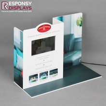 Hot-sale PVC Countertop Light Table Lamp Display Rack With LCD And 1G SD Card For Shopping Store