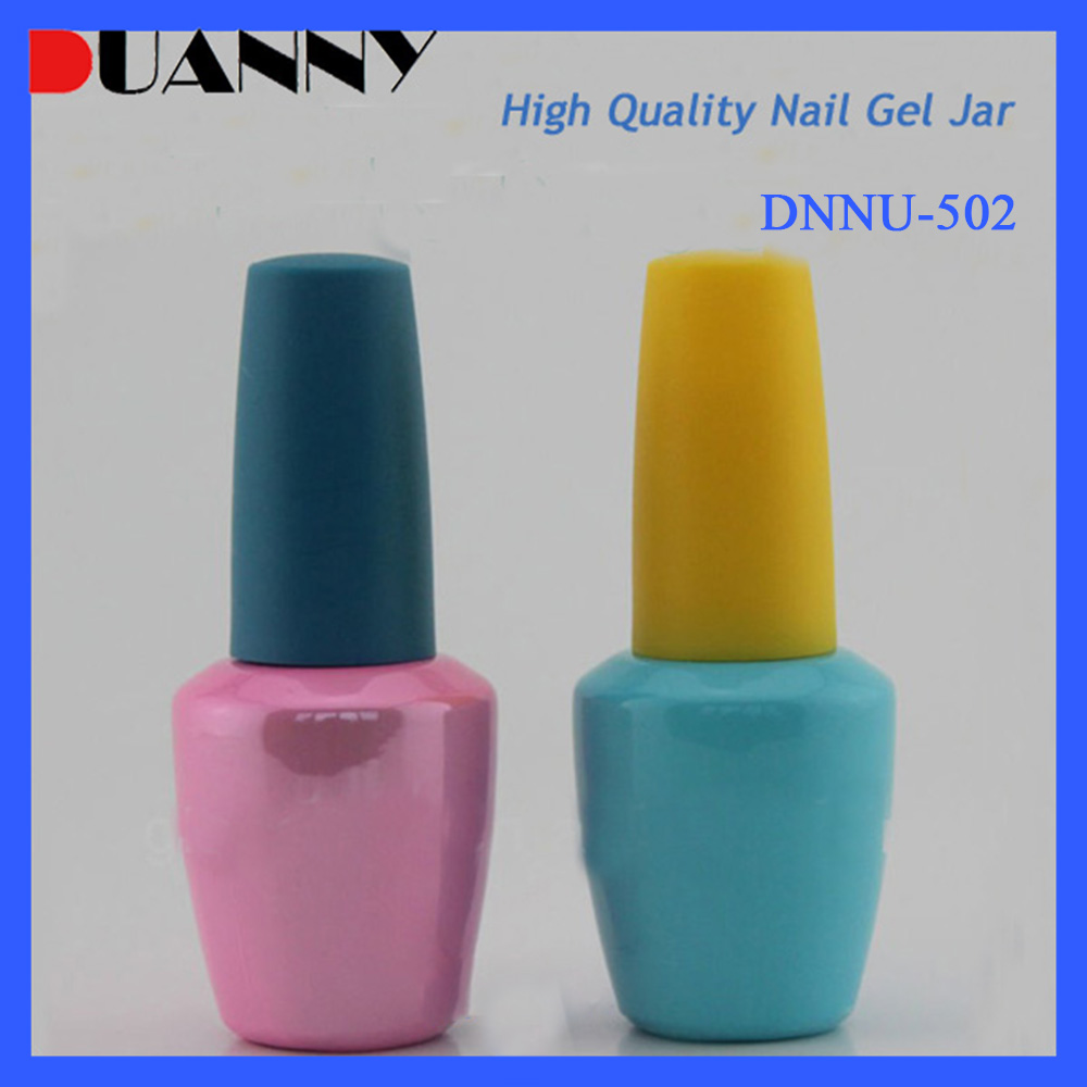 8ml-15ml Colorful Cosmetic Glass Nail Gel Polish Bottle with Cap and Brush