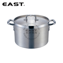 American style Aluminum cooking pot stock pot with compound bottom with straight short shape