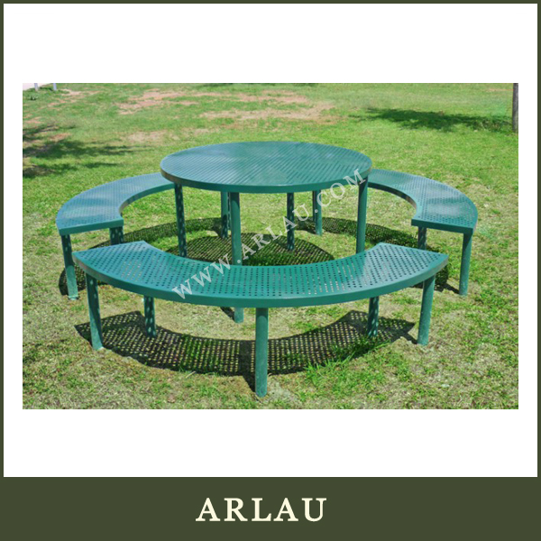 (TB118) Arlau Outdoor Furniture Dinning Table And Chair,Wrought Iron Round Table,Round Metal Table