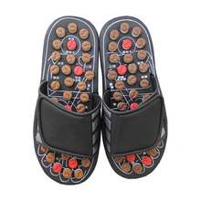 Foot Massage Slippers Magnetic Therapy Rotating Acupuncture Foot Relax Tool Healthy Sandal Reflex Massager Shoes FS-1157