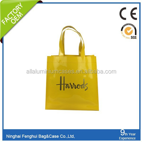 2015 Suitable price luxury shopping bag shinny pvc bag in china