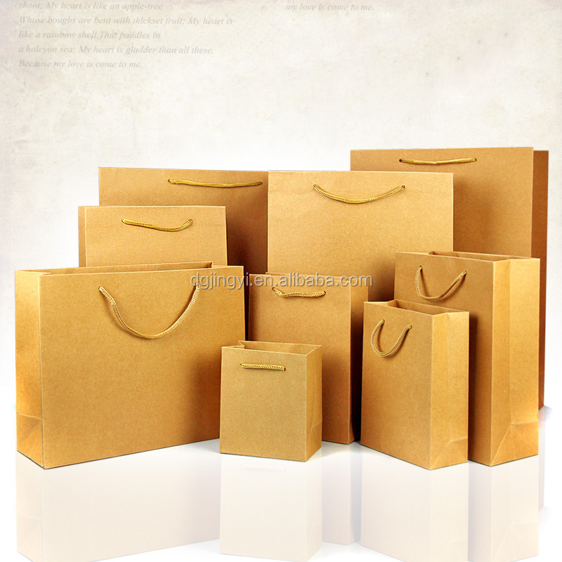 Cheap Christmas brown kraft paper gift bags wholesale in China New products