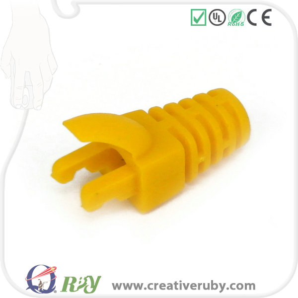 High quality colorful RJ45 plug plastic boot cover PVC Network Wire Connectors Protective Sleeve