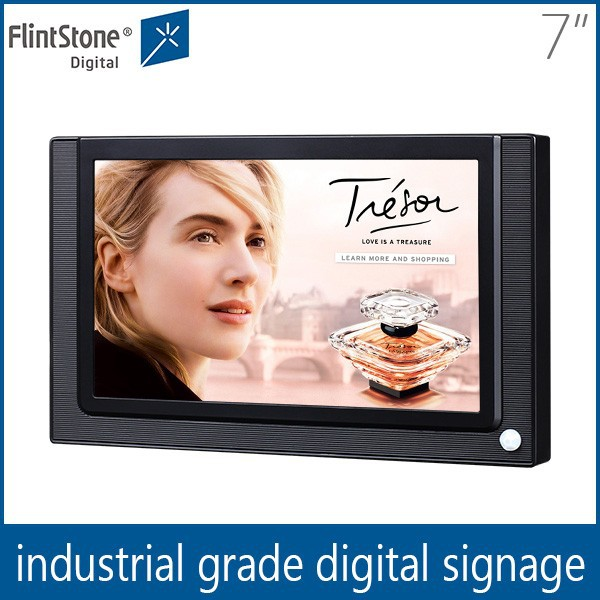 Flintstone Flintstone 7 inch plastic casing led screen tvs ,infrared display, advertising lcd monitor