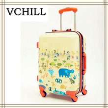 Cute Elephant Print ABS Hard Shell Colorful Luggage