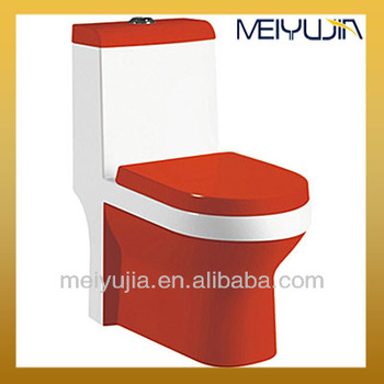 Chaozhou toilet factory washdown one piece red toilet