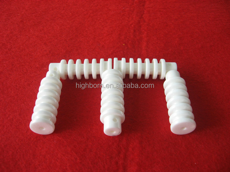 Textile machinery spare parts alumina ceramic slit guides