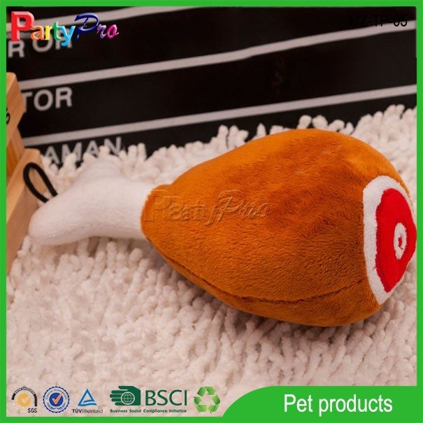 2015 Entertainment Chicken Leg Plush Toy Squeaky Dog Chew Toy