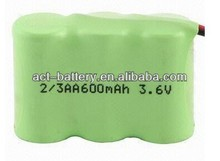 hot sale nimh 2/3aaa 300mah 3.6v rechargeable nimh battery pack in series