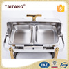 Used kitchen appliances stainless steel glass lid chafing dish electric food burner