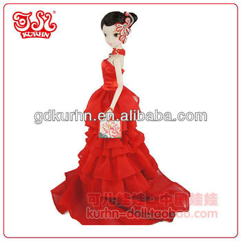 Chinese bride fashion wedding gift doll