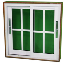 Favorable price of uPVC sliding window grill design,uPVC frame sliding glass window with grids,uPVC windows and doors
