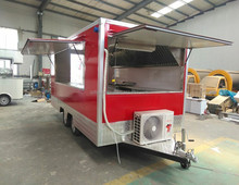 Standard Food Trailer Mobile Kitchen Fast Food Trailer With Appliances