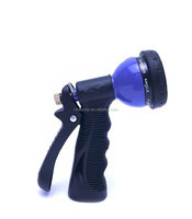 Best seller good quality Garden Hose Nozzle - 8 pattern zinc body with soft cover spray nozzle