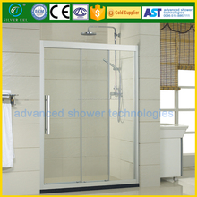 Fashion flat design triple linkage moving shower enclosure