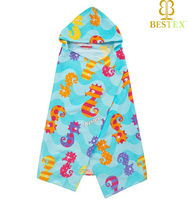 Fashion Best 100%cotton Plush Super soft Cute hooded towels for kids