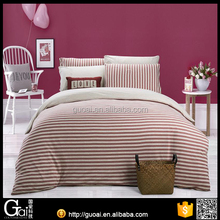 100% Natural colored cotton bedding set fitted knitted bed sheets