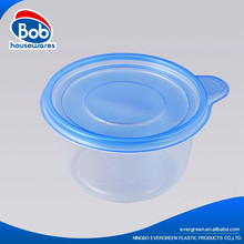 Round Disposable bento lunch box plastic lunch box container sharp disposable container