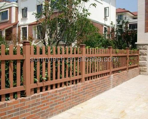 Eco Friendly long time use wood plastic composite wpc fencing for balcony ,bpc garden, garden partition panel