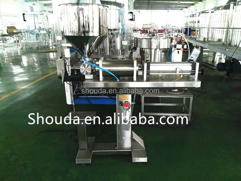 Economic glass one head etching paste filling machine