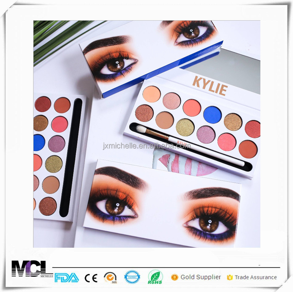 2017Amazon on the most popular Kylie12 color royal peach eye shadow hot selling 9 color kylie eye shadow
