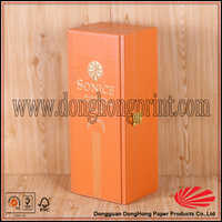 Latest gift packaging 1 bottle strong orange wooden boxes for wine buy