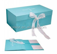 Shoe Box with Ribbon and Fancy Customized Design for Shoe-Shine Box