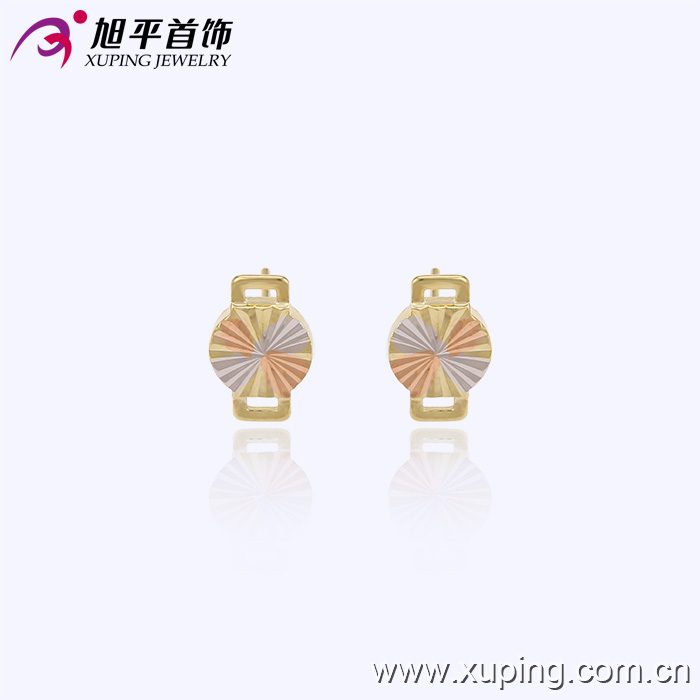 29398 latest low price simple design gold plated stud earrings