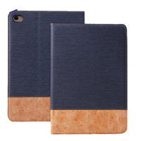 Two-mix colors smart cover pu leather cover case for ipad air 2 with smart auto-wake-up