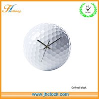 Unique Golf Wall Clock Can Print Logo Golf Ball Wall Clock