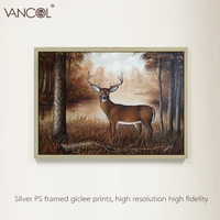 Hot selling handmade animal oil painting on canvas painting of decor in forest