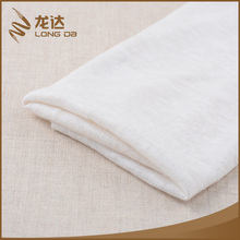Longda Latest trendy soft white jersey knitted 55 linen 45 rayon fabric
