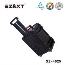 Hard portable waterproof tool case with wheels