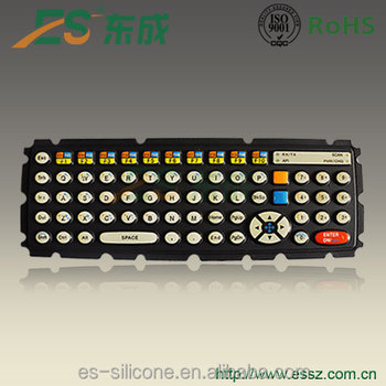Customized Silicone Keypad With Carbon Pill Button Rubber Keyboard