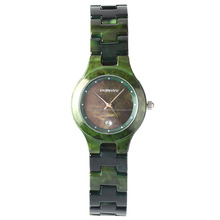 2017 green ceramic starp elegant fancy waterproof lady wrist watch