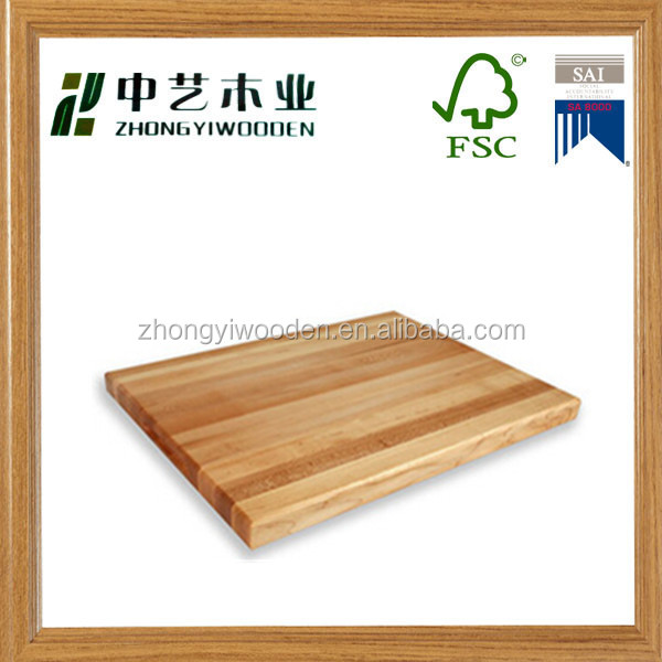 Trade assurance kitchenware solid oak customized design factory supply wooden cutting board