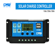 New Product Easy Install 12V 24V 10A 20A 30A Solar Street Light PWM Charge Controller with LCD Display Dual USB Output