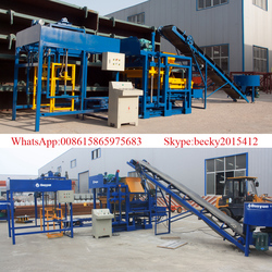 Cost- effective QT4-25 hydraulic fly ash concrete brick machine