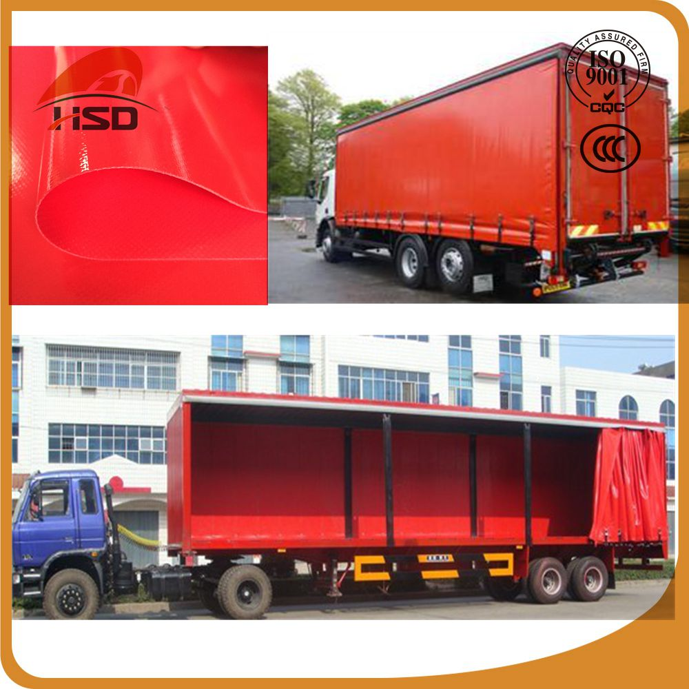 High-grade pvc laminated tarpaulin curtain side truck