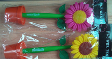 2015 sell hot pvc sunflower ball pen
