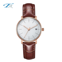 geneva watch japan movt 3ATM water resistant quartz white wrist watches genuine leather band