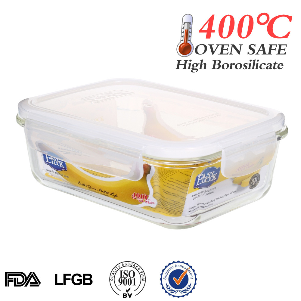 High Borosilicate Microwave Glass Food Storage Container Set with Lid