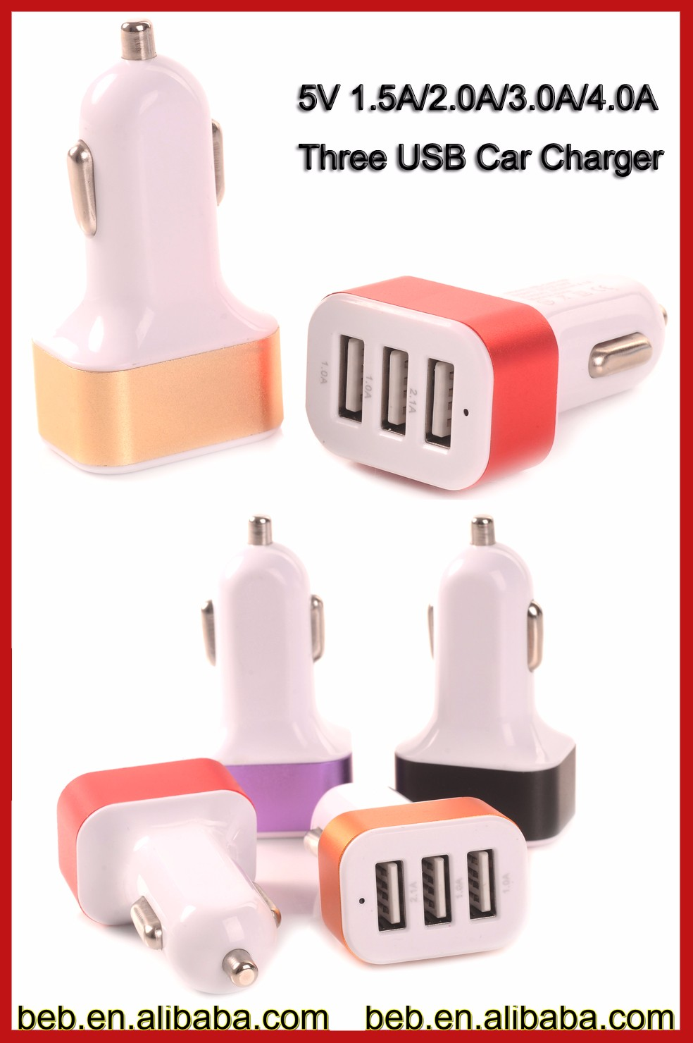 5V 4.1A usb car charger for iphone 6 plus