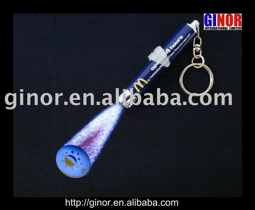 projector torch keychain/projection key chain
