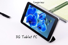 "7"" google android phablet 3G calling dual core 7 inch tablet pc leather cover wifi FM GPS Bluetooth 0.3M/2.0 camera"