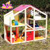 2015 Beautiful design kid wooden toy house,Funny play DIY children toy Doll house,Wooden toy house for Christmas gif W06A098-A0